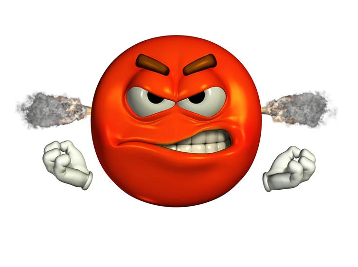 Emoticon depicting a steaming mad person