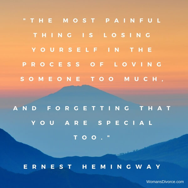 Quote about codependent behavior and loving someone so much you lose yourself