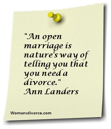 Ann Landers' quote about open marriage