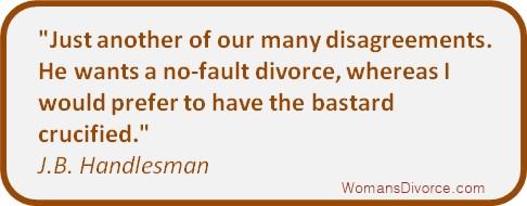 divorce quote by J.B. Handlesman