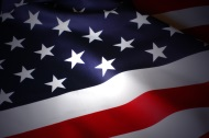 Closeup on section of the US flag
