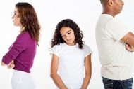 Child caught in the middle of her parent's conflict