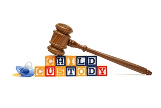 Building blocks spelling child custody