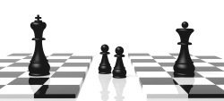Chess board depicting strategies to win custody