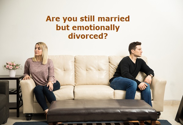 The limbo of emotional divorce while you're still married