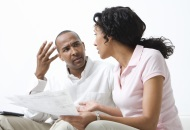 Tense conversation with ex