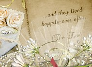 Wedding album implying Happily Ever After