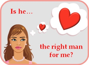 Illustration of woman thinking about a potential love interest