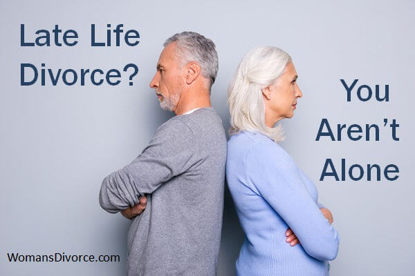 Older couple facing a late-life divorce.