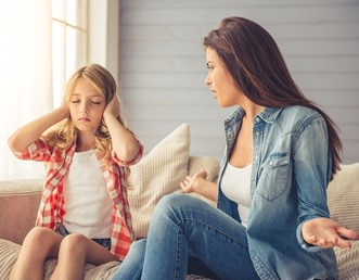 Child refuses visitation and not listening to mom
