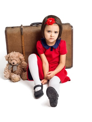 Child packed for visitation but refuses to go