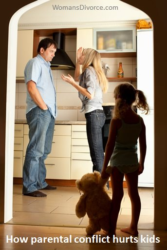 Child in doorway watching parents fight- understanding how parental conflict affects children