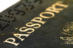 Closeup of passport, photo by Sandralise
