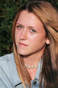 Teen girl's questioning gaze