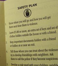 Safety plan pamphlet