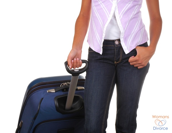 Teen girl with suitcase