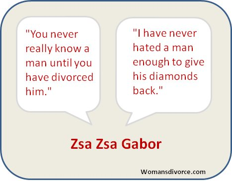 Zsa Zsa Gabor's quotes on divorce