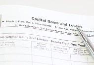 Closeup of capital gains tax worksheet