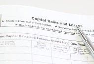 Closeup of capital gains tax worksheet