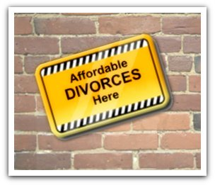 Sign advertising cheap divorce