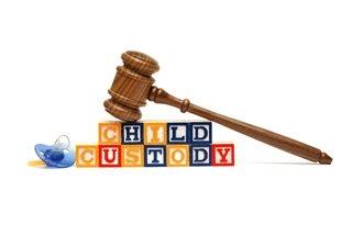 Building blocks spelling child custody