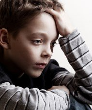 Depressed boy because of problems at home