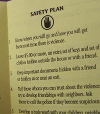 Safety plan pamphlet