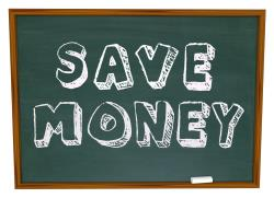 Chalkboard reminder to save money