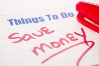 Things to do note with the words save money written in red