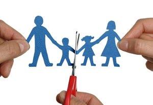 Symbolic image of splitting up the family.