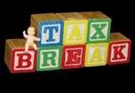 Blocks representing tax break from claiming the children
